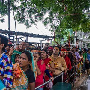 Queue in Maihar Devi Temple