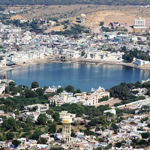 Top view of Pushkar