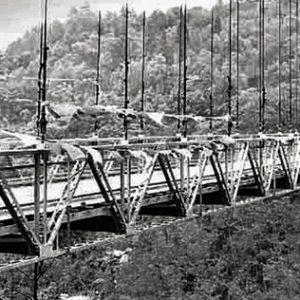 Black and White image of Bridge