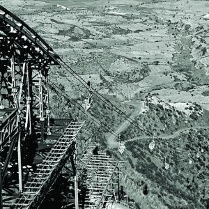 Black and White image of Ethiopia Ropeway
