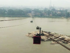 river site view of Guwahati ropeway
