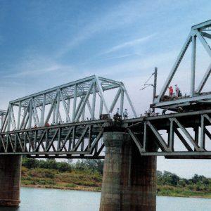 Front view of bridge