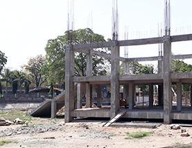 under construction Surkanda Devi Temple